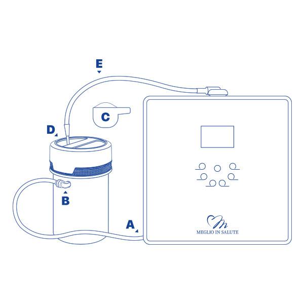 Sistema di pulizia dello ionizzatore - Alka Clean - schema