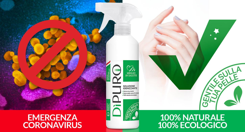 disinfettante igienizzante virucida battericida dipuro