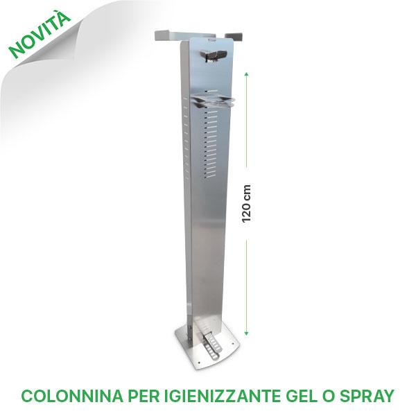 Novità colonnina per igienizzanti gel o spray