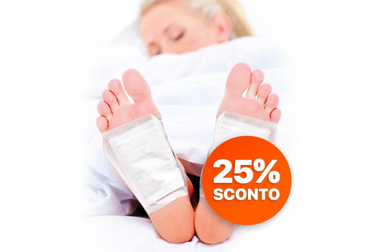 Cerotti naturali detox disintossicanti per i piedi – CONFEZIONE 20 Pz