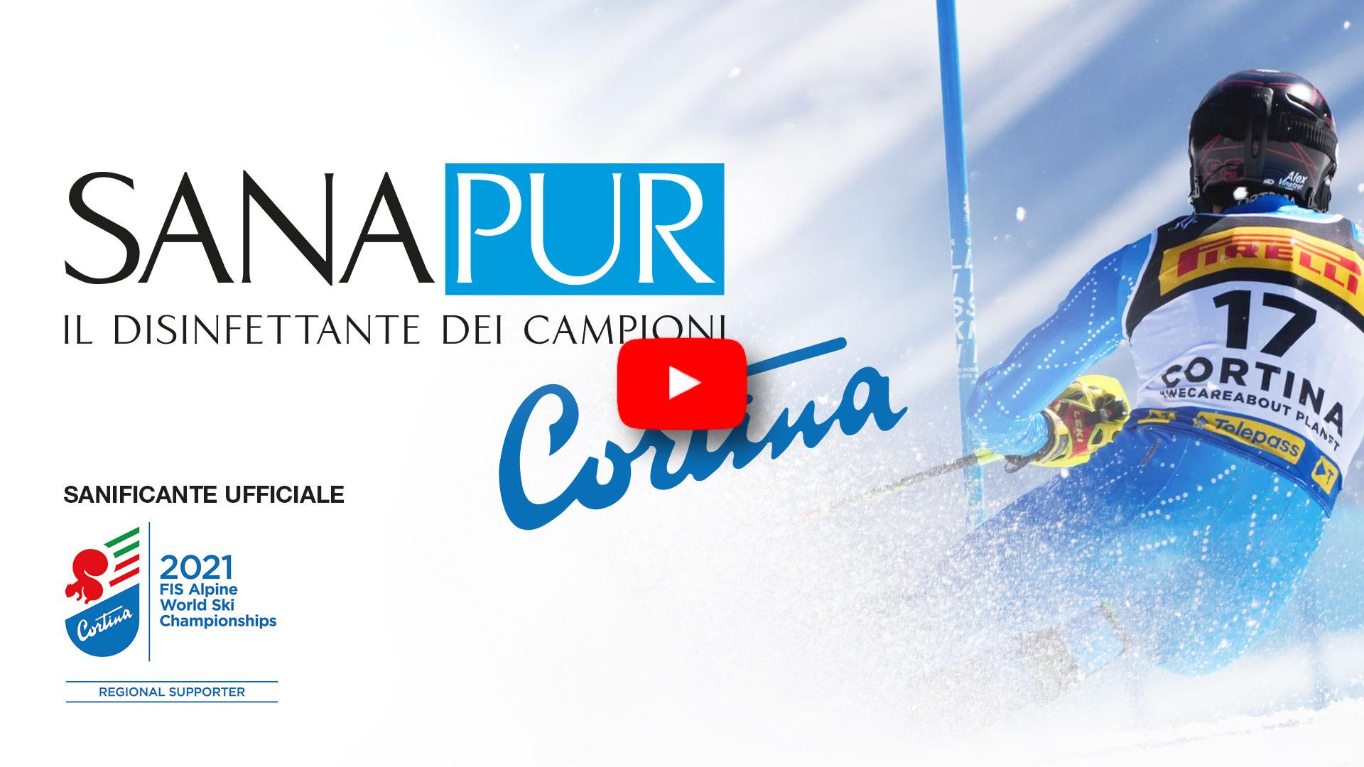 Disinfettante e sanificante Sanapur BeSafe: Mondiali di Sci Alpino Cortina 2021