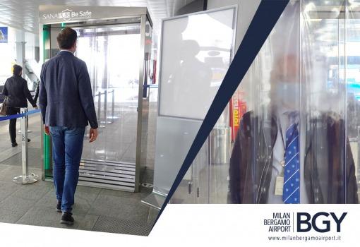 cabina-tunnel-sanificazione-sanapur-be-safe-aeroporto-orio-al-serio-meglioinsalute